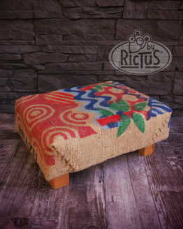 Pouf Rectangle toile de jute - image 1